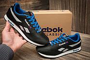 Кроссовки мужские 11286, Reebok Classic, черные ( размер 44 - 28,0см ), фото 2