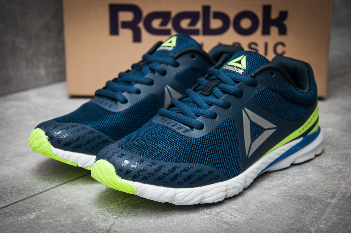 Кроссовки женские 12123, Reebok  Harmony Racer, темно-синие ( размер 38 - 24,2см )