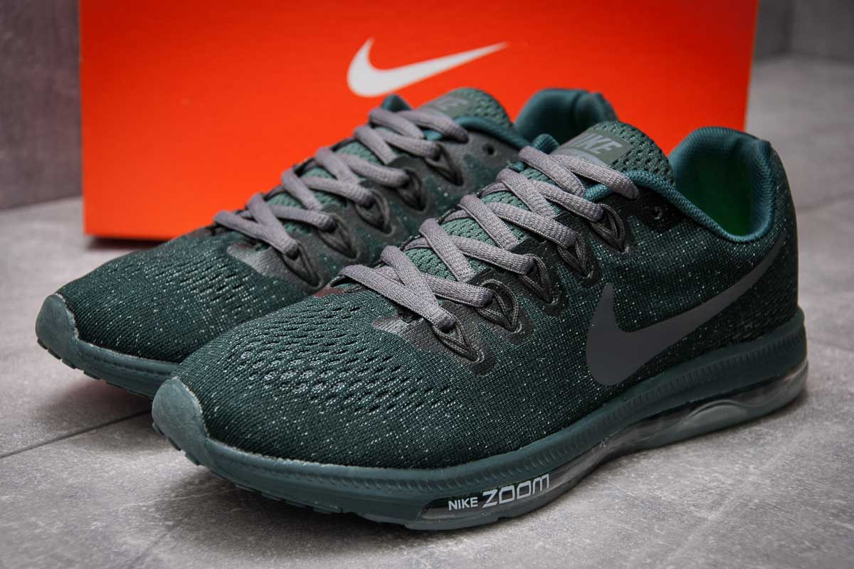 Кроссовки мужские 12967, Nike Zoom All Out, зеленые ( размер 43 - 27,9см )