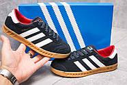 Кроссовки женские 13852, Adidas Hamburg, темно-синие ( размер 37 - 23,2см ), фото 2