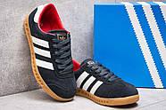 Кроссовки женские 13852, Adidas Hamburg, темно-синие ( размер 37 - 23,2см ), фото 3