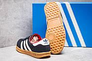Кроссовки женские 13852, Adidas Hamburg, темно-синие ( размер 37 - 23,2см ), фото 4