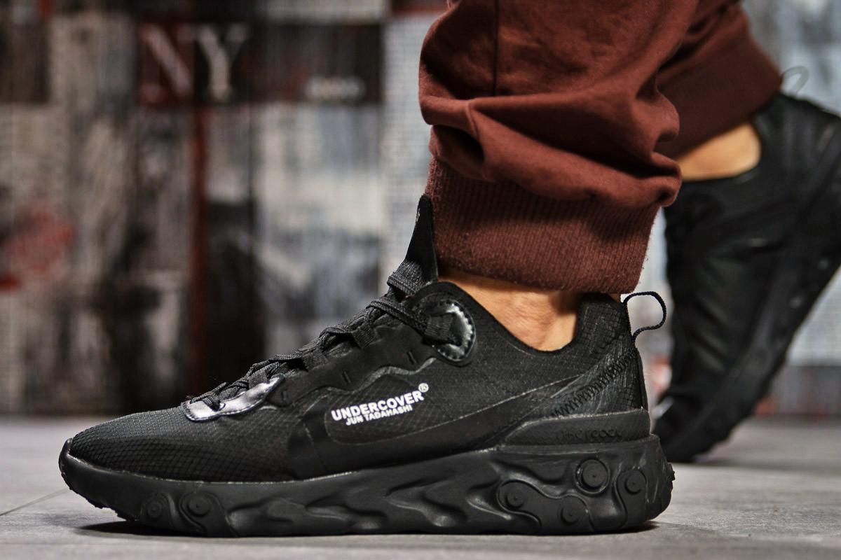 Кроссовки мужские 15391, Nike React, черные ( размер 43 - 28,0см )