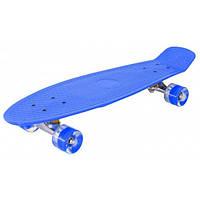 Скейт Пенни борд (Penny board), светятся колёса MS 0848-2, синий