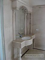 Столешница для ванной из мрамора Crema Marfil