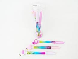 Ручка шариковая, Плавающие блестки-Фламинго, 6шт, 016-2