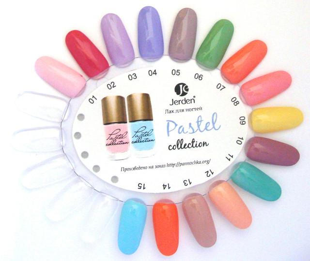 Купите лаки для ногтей Jerden Pastel и мы подарим палитру