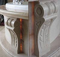 Джакузи из натурального камня: оникс и мрамор Crema Marfil, фото 1