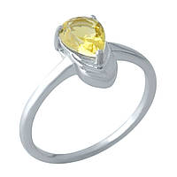 Серебряное кольцо  с цитрином nano , фото 1