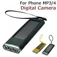 Солнечное зарядное устройство 2000 mAh с фонариком