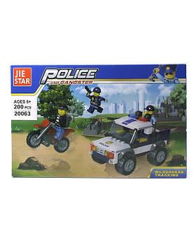 Конструктор Jie star Полиция 20063, 200 дет,. в короб. 32,5х5,5х5,5см