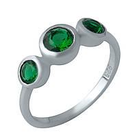 Серебряное кольцо  с изумрудом nano , фото 1