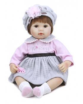 Кукла реборн KD18141 с соской, 44 см, в кор. 25,5*23*31,5см