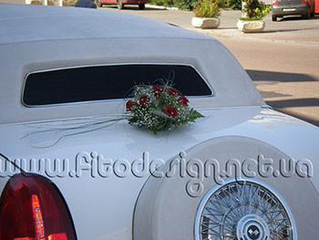 Оформление автомобиля жениха и невесты