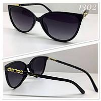 Женские черные солнцезащитные очки Tiffany&Co линзы поляризационные (PZ1176)