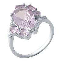 Серебряное кольцо  с натуральным аметистом , фото 1