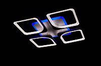 Люстра стельова світлодіодна V222001-4/ 90W ВК ДИММЕР 3 блакитний підсвічуванням, фото 1