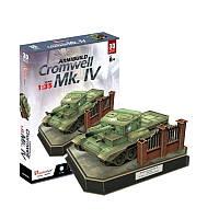 Трехмерная головоломка-конструктор CubicFun British Cromwell Mk. IV (JS4203h)