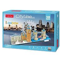 Трехмерная головоломка-конструктор CubicFun City Line London (MC253h)