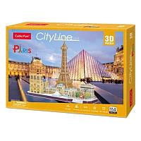 Трехмерная головоломка-конструктор CubicFun City Line Paris (MC254h)