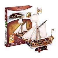 Трехмерная головоломка-конструктор CubicFun Яхта Мери (T4010h)