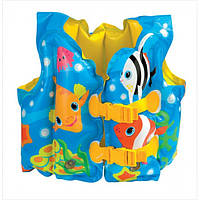 Жилет надувной Intex 59661 с рыбками, 41-30 см