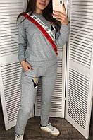 Спортивный костюм женский 001 серый VOJELAVI