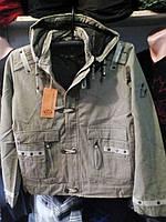 Мужская молодежная куртка милитари хаки