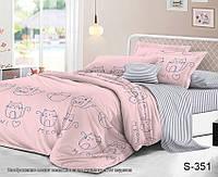 ✅ Полуторный комплект постельного белья (Люкс-сатин) TAG S351