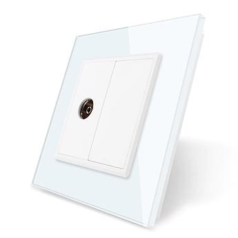 ТВ розетка Livolo белый стекло (VL-C791V-11)