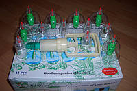 Банки вакуумные с насосом KANG CI комплект 12 шт