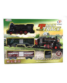 JHX8802 железная дорога с поездом 17 деталей, свет, муз., в короб. 40х30х7см