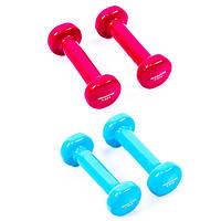 Виниловые гантели для фитнеса (пара) IronMaster, 0.5-4 кг 0.5