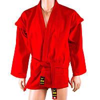Самбовка Mizuno, куртка+шорты(эластан), красный, рост 140-170см 140