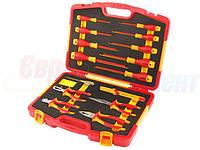 Универсальный набор диэлектрического инструмента TOLSEN VDE Premium, 15 предметов (V82115)