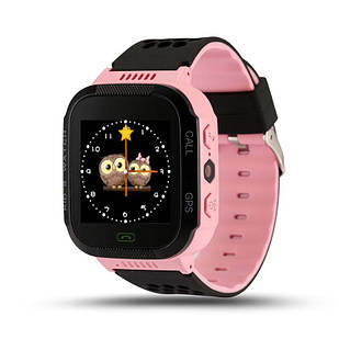 Детские умные водонепроницаемые смарт-часы с GPS/LED-фонариком Q529 шагомер будильник Pink (SWQ529P)