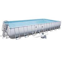 Bestway Каркасный бассейн Bestway 56623 (956х488х132 см) с песочным фильтром, лестницей и тентом