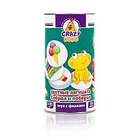 Игра в тубусе Цветные лягушата - на русском Vladi Toys - 218926