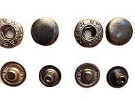Кнопка Альфа 12,5мм Темный никель Турция