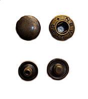 Кнопка Альфа 12,5мм Бронза Турция