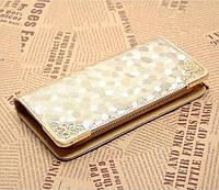 Стильный большой женский кошелек на молнии. Золотой, серебряный, черный, фото 1