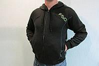 Мужская толстовка Adidas (73082) черная с капюшоном код 130в