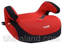 Дитяче автокрісло Siger Бустер FІX, колір: червоний, група 3 (вік 6-12 років, вага 22-36 кг), (Isofix) - KRES0185