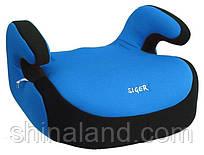 Дитяче автокрісло Siger Бустер, колір: синій, група 3 (вік 6-12 років, вага 22-36 кг), (ремінь безпеки) - KRES0015