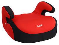 Детское автокресло Siger Бустер, цвет: красный, группа 3 (возраст 6-12 лет, вес 22-36 кг), (ремень безопасности) - KRES0012