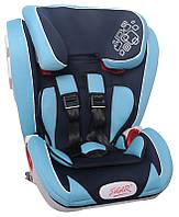 Детское автокресло Siger Индиго, цвет: синий, группа 1/2/3 (возраст 1-12 лет, вес 9-36 кг), (Isofix) - KRES1517