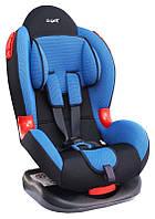 Детское автокресло Siger Кокон, цвет: синий, группа 1/2 (возраст 1-7 лет, вес 9-25 кг), (ремень безопасности) - KRES0114
