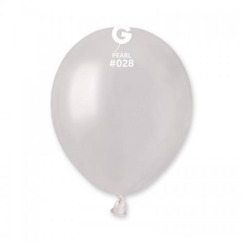 "Латексный шар перламутровый металлик 5 ""/ 28 / 13см Pearl White"