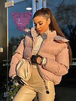 Женская блестящая короткая куртка
