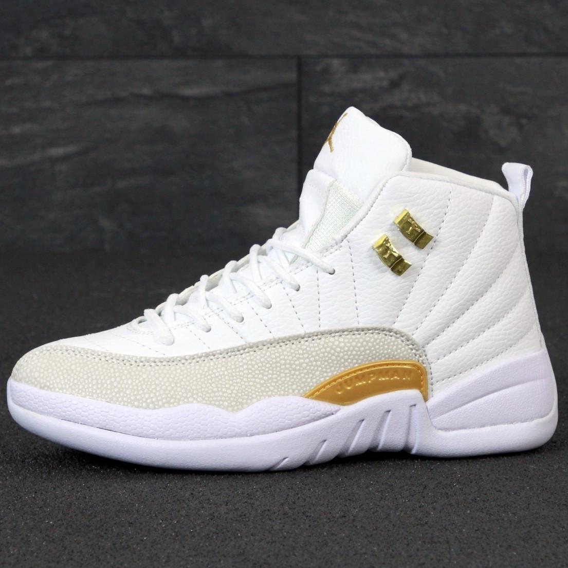 Кроссовки женские Nike Air Jordan 11 белые с золотым (Top replic)